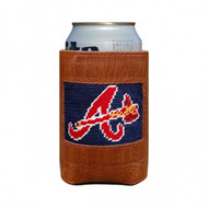 Smathers and Branson Needlepoint Can Cooler - Atlanta Braves