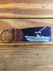 Smathers and Branson Key Fob - Power Boat (Dark Navy)