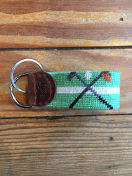 Smathers and Branson Key Fob - Crossed Clubs (Mint)