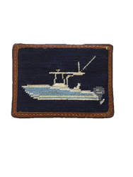 Smathers and Branson Card Wallet - Power Boat (Dark Navy)