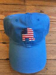 Smathers and Branson Needlepoint Hat - Patriotic Republican (Royal)