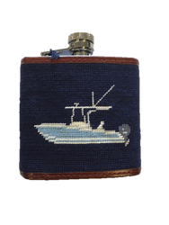 Smathers and Branson Needlepoint Flask - Power Boat