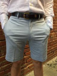 Charleston Khakis Stretch Seersucker Shorts - Green