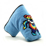 Smathers and Brandon Needlepoint Putter Cover - Dancing Bear Tye Dye