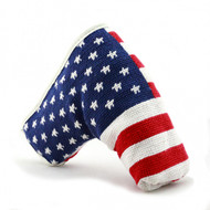 Smathers and Brandon Needlepoint Putter Cover - Large American Flag
