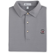 Peter Millar University of South Carolina Jubilee Stripe Jersey Polo - Black (Block C Logo)