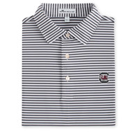 Peter Millar University of South Carolina Competition Stripe Jersey Polo - Iron (Block C Logo)