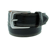 T.B. Phelps El Paso Croco Leather Belt - Black