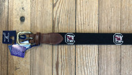 Smathers and Branson USC Needlepoint Belt - Black