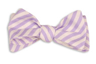 High Cotton Bowtie - Lavender Linen Stripe