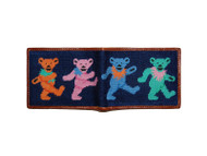 Smathers and Branson Needlepoint Wallet - Dancing Bears