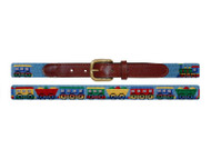 Smathers and Branson Needlepoint Childrens Belt - Trains