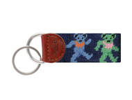 Smathers and Branson Needlepoint Key Fob - Dancing Bears