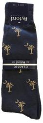 Byford Palmetto Socks - Navy/Khaki