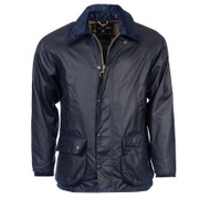 Barbour Bedale Wax Mens Jacket - Navy