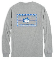 Southern Tide Long Sleeve Heathered Original Skipjack T-shirt - Gray