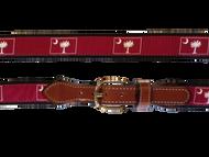 Palmetto Canvas Belt - Garnet