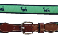Canvas Web Belt - Whale