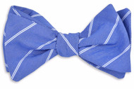 High Cotton Buoy Stripe Bow Tie - Blue