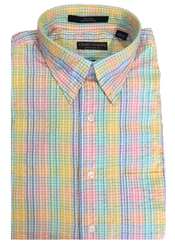 Craig Reagin Seersucker Sport Shirt - Multi Plaid