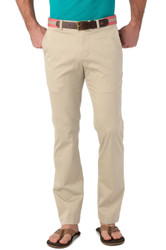 Southern Tide Trim Fit Channel Marker Pant - Stone