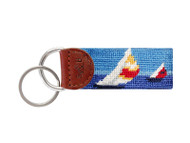 Smathers and Branson Needlepoint Key Fob - Regatta