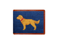 Smathers and Branson Needlepoint Wallet - Golden Retreiver