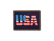 Smathers and Branson Needlepoint Card Wallet - Patriotic USA