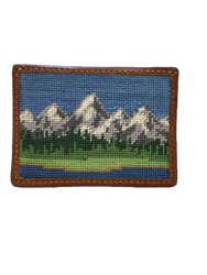 Smathers and Branson Needlepoint Card Wallet - Tetons