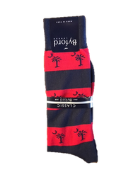 Byford Palmetto Stripe Socks - Marine/Red
