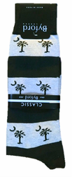 Byford Palmetto Stripe Socks - Marine/Lt Blue