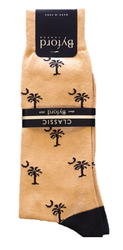 Byford Palmetto Socks Contrast Toe and Heel- Khaki/Marine