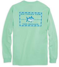 Southern Tide Long Sleeve Original Skipjack T-shirt - Offshore Green