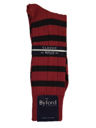 Byford Team Stripe Socks - Carolina Garnet/Black