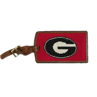 Smathers and Branson Needlepoint Luggage Tag - University of Georgia