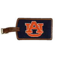 Smathers and Branson Needlepoint Luggage Tag - Auburn