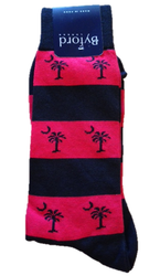Byford Palmetto Stripe Socks - Red/Black