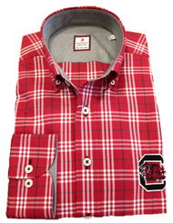 University Of South Carolina Plaid - Garnet