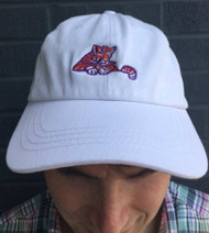 Craig Reagin Laying Tiger Hat - White