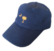 Craig Reagin Palmetto Hat - Navy with Orange Tree