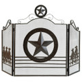 Texas Lone Star Fireplace Screen