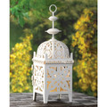 Iron Cutout Candle Lantern - 11.5 inches