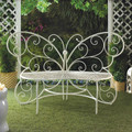 White Butterfly Garden Bench