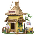 Tiki Hut Bar Thatched-Roof Bird House