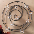 Endless Cirlces Iron Candle Wall Sconce