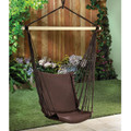 Dark Brown Recycled Cotton Garden Swing Chair