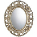 Ornate Gilded Wood Frame Oval Wall Mirror