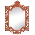 Vintage-Look Ornate Wood Frame Mirror