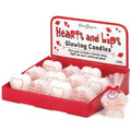 Hearts and Lips Glowing Candles with Display (12)