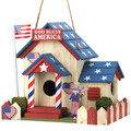 God Bless America Patriotic Bird House